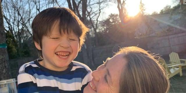 Kristen Teodoro and her son Hudson.