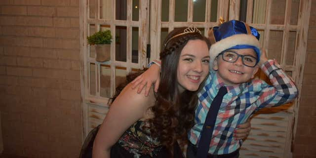 Prom queen Grayson and prom king Gene, pictured.