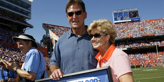 Former University of Florida great, Jack Youngblood, is honored during a pregame ceremony Saturday at Ben Hill Griffin Stadium in Gainesville, Florida on September 30, 2006. (Photo by J. Meric/WireImage)
