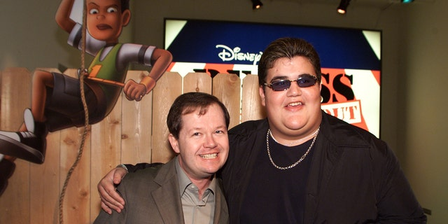 Director Chuck Sheetz and Jason Davis at the premiere and after-party of Disney's new animated feature 'Recess: Schools Out' at the El Capitan Theater on Feb. 10, 2001, in Los Angeles, Calif. (Kevin Winter/Getty Images).