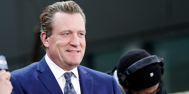 Jeremy Roenick is seen before Game 2 of the 2019 Stanley Cup Final between the Boston Bruins and St. Louis Blues, in Boston, May 29, 2019. (Getty Images)