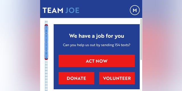 Joe Biden's campaign launched a free app in December, to build community engagement.
