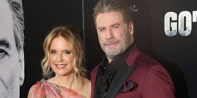 "Kelly Preston and John Travolta attend the New York Premiere of ""Gotti"" at SVA Theater on June 14, 2018 in New York City."