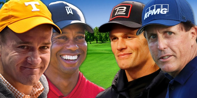 Brady, Manning to play with Tiger Woods, Phil Mickelson in Charity Match