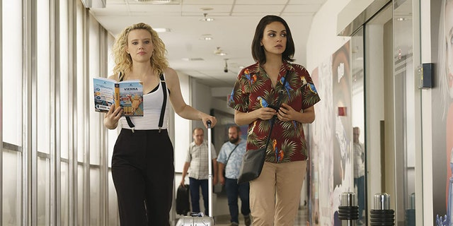 Kate McKinnon (left) and Mila Kunis in 'The Spy Who Dumped Me.'