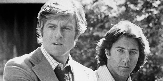 Robert Redford and Dustin Hoffman as Woodward and Bernstein, the reporters who broke the Watergate scandal, in All the President's Men. (AP File)
