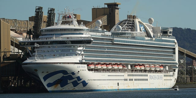 The Ruby Princess cruise ship, seen here docked at Port Kembia in New South Wales on April 6, is at the center of a criminal investigation by New South Wales police.