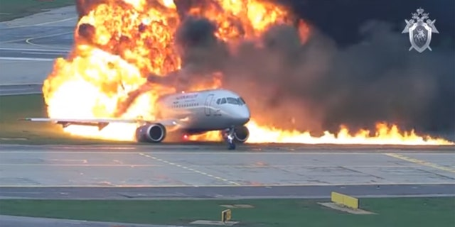 Aeroflot Flight 1492 skidded to a halt at Moscow's Sheremetyevo Airport after it caught fire during a hard landing on May 5, 2019.