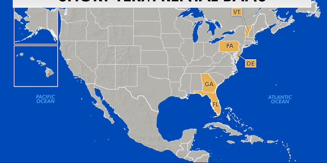 Short term rental bans across the United States.