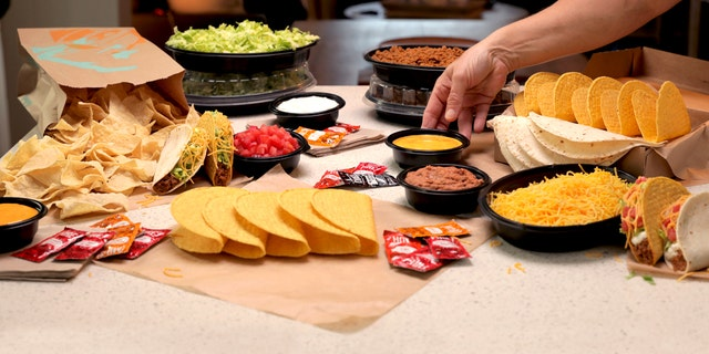 The limited-time-only taco bar, which is available for take-out or delivery, launches Friday at stores nationwide.