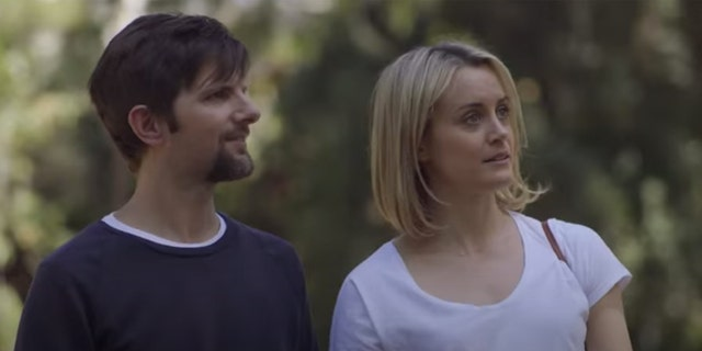 Adam Scott and Taylor Schilling star in this 2015 film.