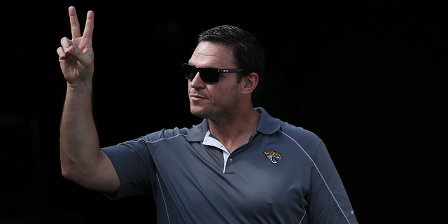 Former Jacksonville Jaguars player Tony Boselli walks to the field prior to the start of their game against the Los Angeles Chargers at EverBank Field on November 12, 2017 in Jacksonville, Florida.(Photo by Logan Bowles/Getty Images)