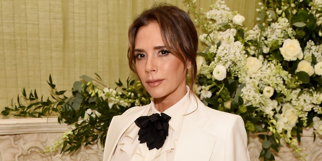 Victoria Beckham attends the British Vogue and Tiffany & Co. Fashion and Film Party at Annabel's on February 2, 2020 in London, England.