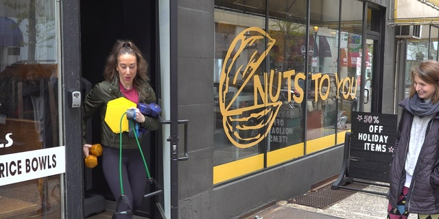 Juliet Root, a co-owner of Unite Fitness, says the studio is renting out its equipment while shut down.