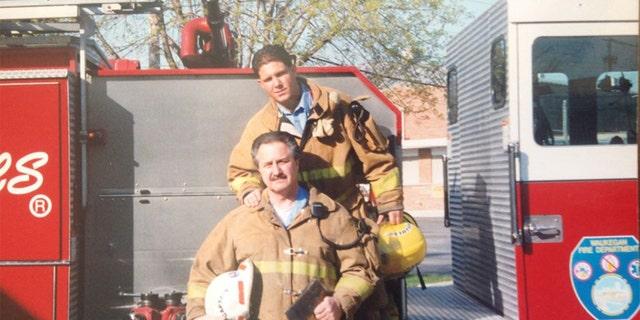 Ken Harvey and his son Rob Harvey Jr. (Waukegan Fire Department)