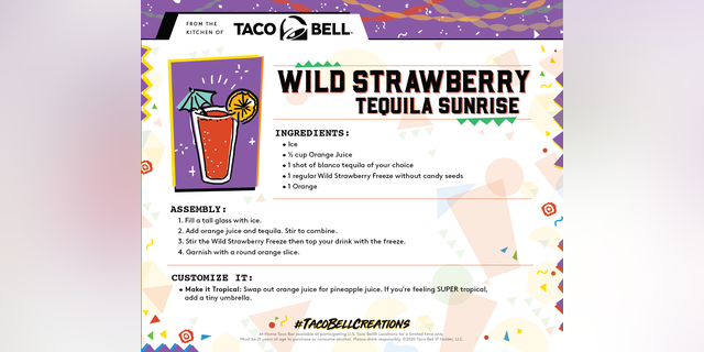 Taco Bell is also releasing recipe cards on its blog beginning Sunday, May 3.