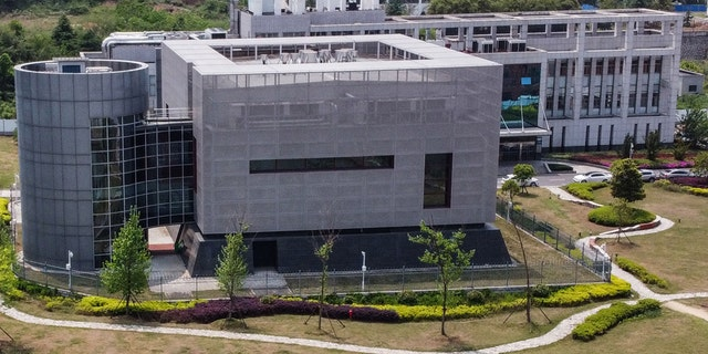 An aerial view shows the P4 laboratory at the Wuhan Institute of Virology in Wuhan in China's central Hubei province on April 17, 2020