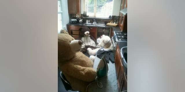 Briscall said the bears have raised the spirits of her family through the ongoing outbreak.