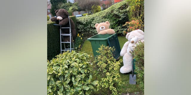 gardening While the bears have been a permanent fixture within the family home, she has this week shared their recent exploits to raise people's spirits during coronavirus lockdown.