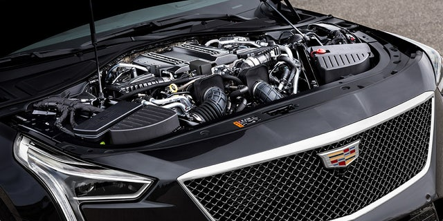 The Blackwing. 4.2L twin-turbocharged V-8 engine is rated at 550 hp.