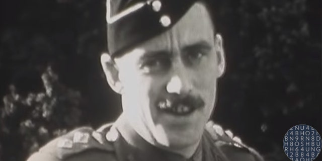 The hidden wartime footage was discovered in its original canister.
