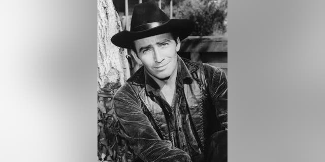 James Drury stars as the titular character in television series 'The Virginian,' circa 1965.
