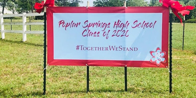 The uplifting display has reportedly become quite the local attraction, the school's principal says.