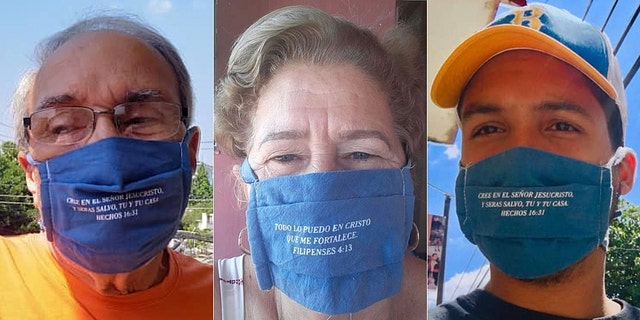 Cuban pastors came up with the idea to put Bible verses on their masks during the coronavirus pandemic.