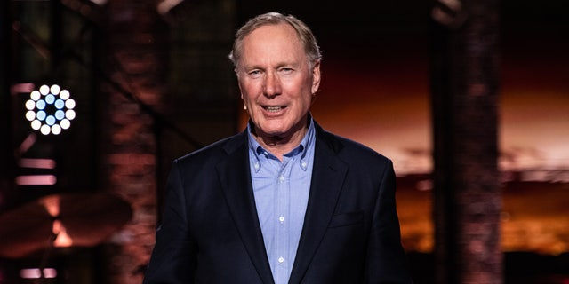 Pastor Max Lucado shares a message during a global Good Friday service that will be streamed online, TV, and radio stations to millions.