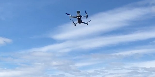 Authorities in New Jersey have deployed drones with automated messages urging people to stop gathering if they are breaking social distancing guidelines.