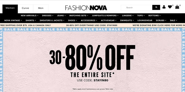 Fashion Nova's latest marketing pitch has been slammed as foolish after the fast-fashion retailer suggested that customers use their government stimulus checks to shop the site's ongoing sale amid the global coronavirus pandemic.