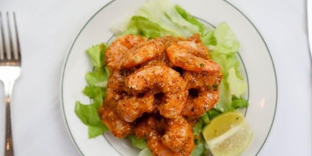 Galatoire's shrimp remoulade, served in the restaurant.