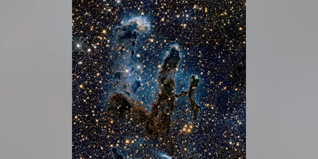 The Eagle Nebula is seen above.