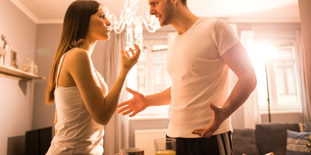 The average couple argues 156 times every year over where to order dinner from, a new study suggests. (iStock).