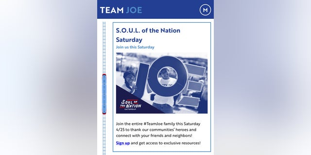 The campaign has launched #SOULSaturdays which are virtual events for supporters to thank first responders and essential workers in communities during COVID-19.