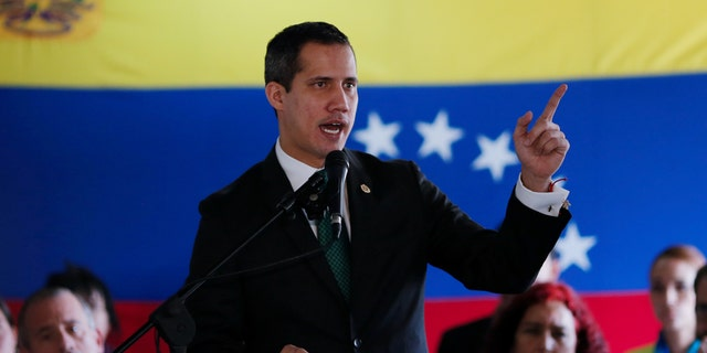 Venezuelan opposition leader Juan Guaido, who many nations have recognised as the country's rightful interim ruler, speaks during conference in Caracas, Venezuela March 9, 2020. REUTERS/Manaure Quintero - RC2IGF916NAY