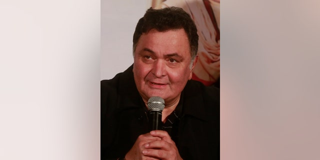 Rishi Kapoor speaks during the trailer launch of his upcoming movie 'All is Well' in Mumbai, India.