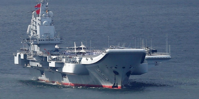 The Chinese aircraft carrier Liaoning (file picture)