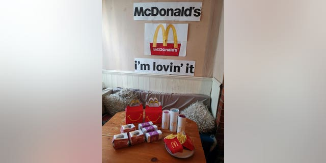 """""""I felt sorry for the kids when McDonald's closed because I had promised them a trip there,"""" said Kristy Collins, from Hull, in East Yorkshire, England. """"I started thinking about how I could make it up to them and just thought, if we can't go to McDonald's then let's bring it to us."""""""