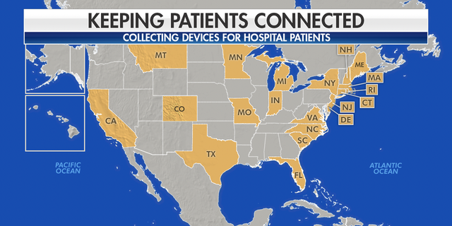 Initiatives to collect iPads and other smart devices for hospital patients unable to see their loved ones amid COVID-19 have launched in at least 20 states.