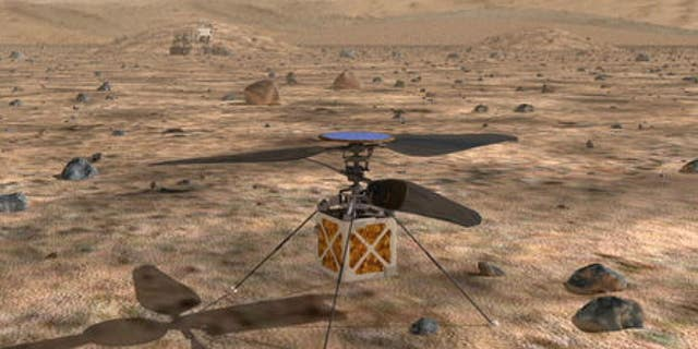 The Mars helicopter will travel with the rover to the Red Planet.