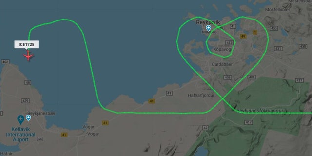 An Icelendair pilot recently thanked health care workers for their bravery and dedication during the coronavirus pandemic – by drawing a heart in the sky over hospitals in the capital city.