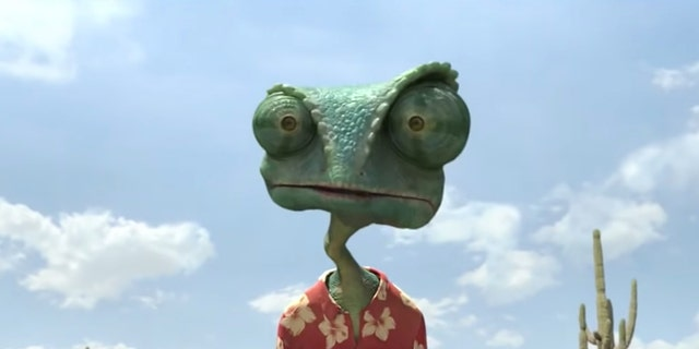 Johnny Depp voices the character of Rango.