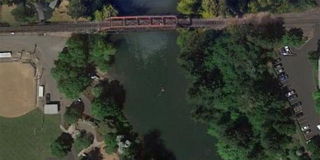 The cars were found near a railroad bridge southwest of downtown Portland.