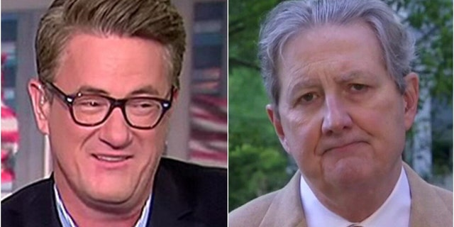 MSNBC's Joe Scarborough, left, targeted U.S. Sen. John Kennedy, R-La., with comments on Thursday's edition of