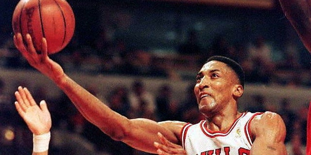 Scottie Pippen won multiple titles with the Bulls. (JEFF HAYNES/AFP via Getty Images)
