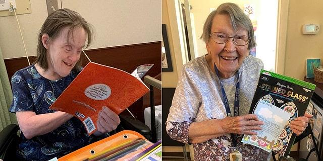 Seniors at nursing homes react to getting gifts from Pennsylvania teen Hita Gupta.