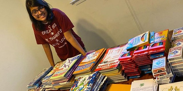 """Hita Gupta, a student at Conestoga High School in Berwyn, a Philadelphia suburb, started """"Brighten A Day"""" to help seniors. Now she is raising money to help even more."""