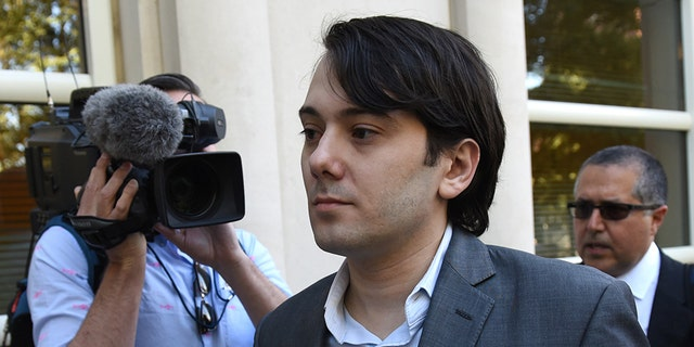 """Martin Shkreli, the former Turing Pharmaceuticals executive who became known as """"Pharma Bro"""" arrives for the first day of jury selection in his federal securities fraud trial June 26, 2017 at United States District Court Eastern District of New York in Brooklyn. / AFP PHOTO / TIMOTHY A. CLARY (Photo credit should read TIMOTHY A. CLARY/AFP via Getty Images)"""