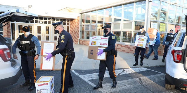 Warren Hills High School students made 26,000 face shields with a 3D printer and donated them to New Jersey State Police Saturday.